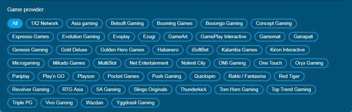 Happy Luke online casino software & game providers providers